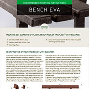 MOUNTING INSTRUCTIONS FOR EVA BENCH
