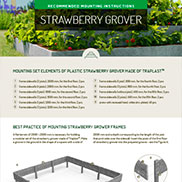 MOUNTING INSTRUCTIONS FOR STRAWBERRY GROWER