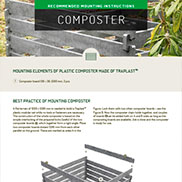 MOUNTING INSTRUCTIONS FOR COMPOSTER
