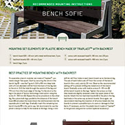 MOUNTING INSTRUCTIONS FOR SOFIA BENCH