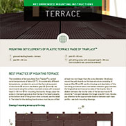 MOUNTING INSTRUCTIONS FOR TERRACE