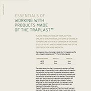 PRINCIPLES OF WORKING WITH TRAPLAST MATERIALS