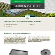 MOUNTING INSTRUCTIONS FOR GARDEN BATHTUB